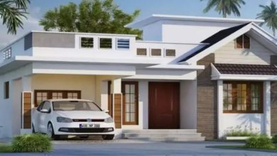 Photo of 1215 Sq Ft 3BHK Contemporary Style Single Floor House at 6 Cent Plot