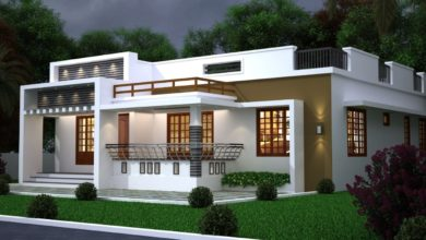Photo of 1250 Sq Ft 3BHK Modern Single-Storey House and Free Plan