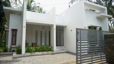 Photo of 1300 Sq Ft 2BHK Flat Roof Modern Single-Storey House and Interior