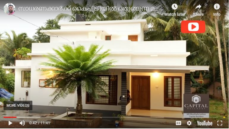 1380 Sq Ft 3BHK Modern Single-Storey House and Interior, 18 Lacks