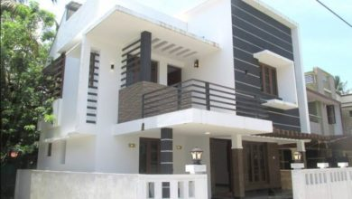 Photo of 1420 Sq Ft 3BHK Contemporary Style Two-Storey House at 3 Cent Plot