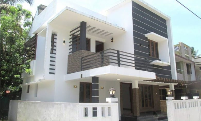 1420 Sq Ft 3BHK Contemporary Style Two-Storey House at 3 Cent Plot