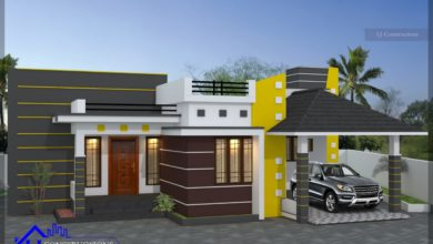Photo of 1430 Sq Ft 3BHK Contemporary Mix Style House and Free Plan, 25 Lacks