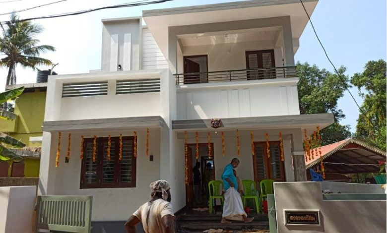 1437 Sq Ft 3BHK Modern Two-Storey House and Free Plan, 23 Lacks
