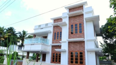 Photo of 1480 Sq Ft 3BHK Contemporary Style Two-Storey House at 4 Cent Plot