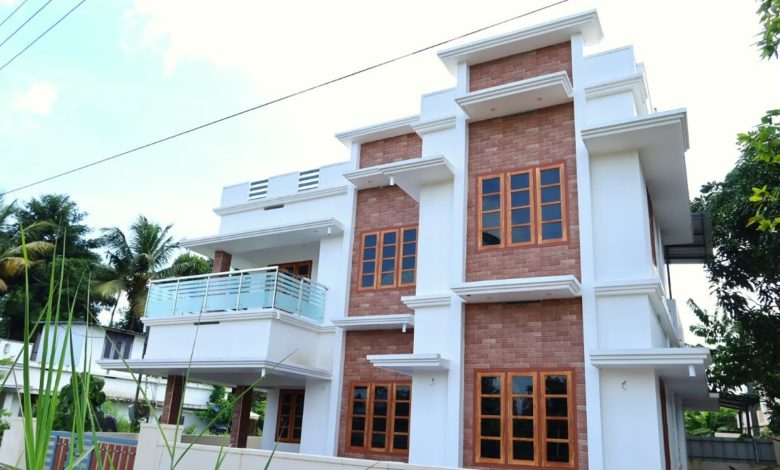 1480 Sq Ft 3BHK Contemporary Style Two-Storey House at 4 Cent Plot
