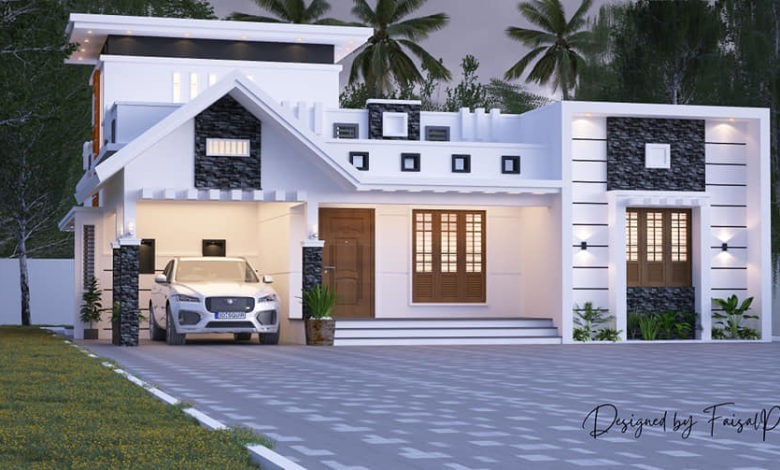 1550 Sq Ft 2BHK Contemporary Style Single-Storey House Design
