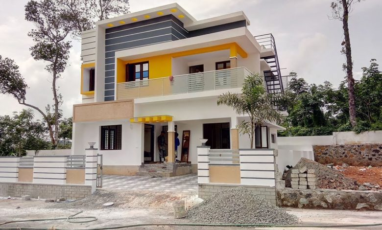 1650 Sq Ft 3BHK Flat Roof Type Modern Two Floor House at 5 Cent Plot