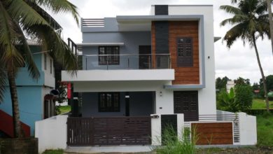Photo of 1700 Sq Ft 3BHK Contemporary Flat Roof Two Floor House at 4 Cent Land
