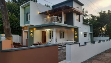 Photo of 1720 Sq Ft 4BHK Contemporary Style Two-Storey House and Free Plan