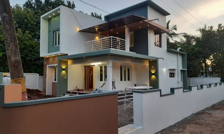 1720 Sq Ft 4BHK Contemporary Style Two-Storey House and Free Plan
