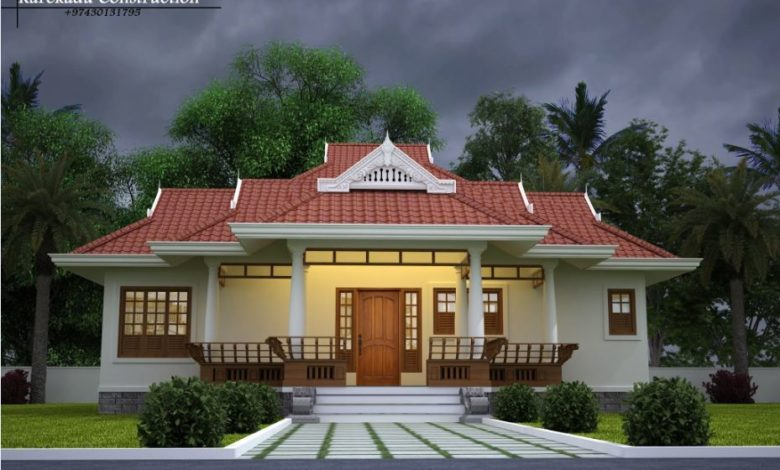 1865 Sq Ft 3BHK Traditional Style Single Floor Beautiful House Design
