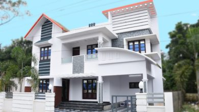 Photo of 1950 Sq Ft 3BHK Contemporary Style Two-Storey House at 5.8 Cent Plot