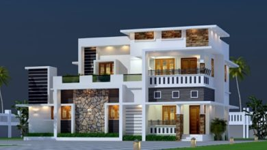 Photo of 2000 Sq Ft 4BHK Contemporary Style Twp-Storey House and Free Plan