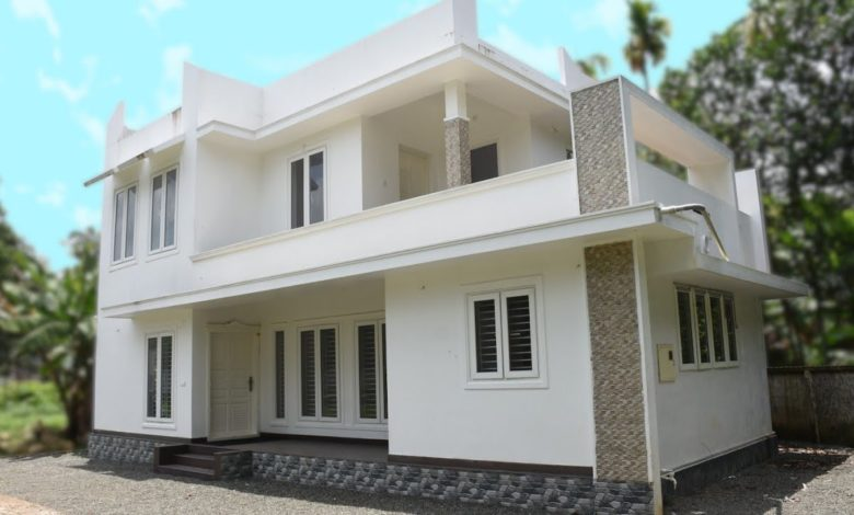 2000 Sq Ft 4BHK Two-Storey Modern House at 7 Cent Plot