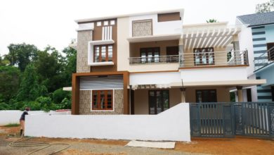 Photo of 2380 Sq Ft 5BHK Contemporary Style Two-Storey House at 5.50 Cent Plot
