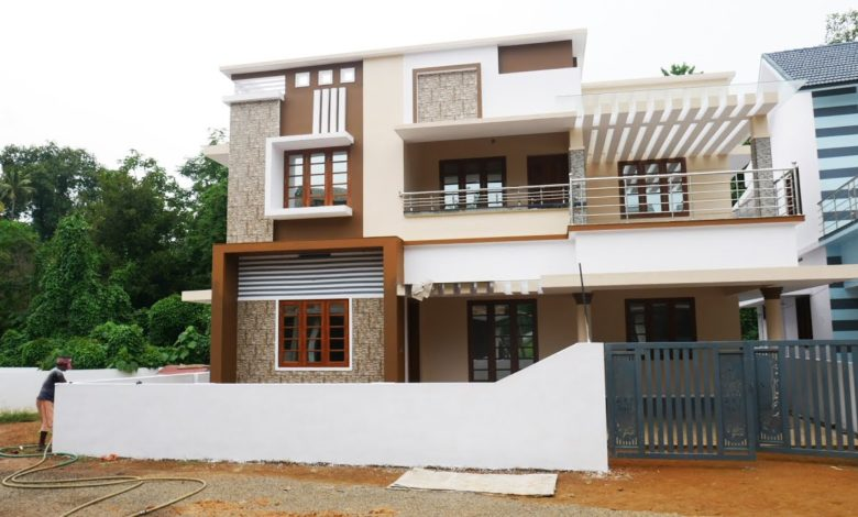 2380 Sq Ft 5BHK Contemporary Style Two-Storey House at 5.50 Cent Plot