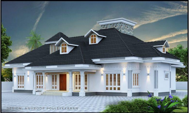 2970 Sq Ft 4BHK Traditional Nalukettu Style Single-Storey House and Free Plan