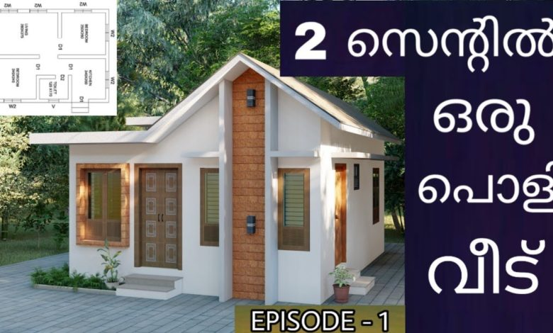 410 Sq Ft 2BHK Modern Single Floor House and Free Plan