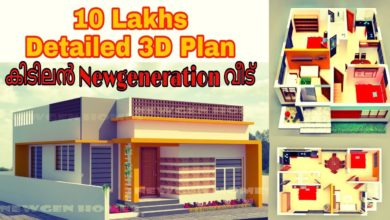 Photo of 700 Sq Ft 2BHK Modern Single Storey House and Free Plan, 10 Lacks