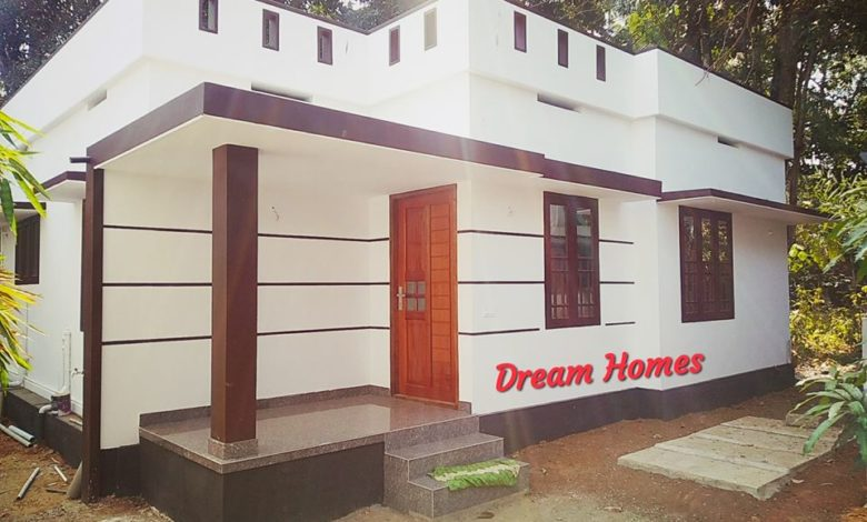 750 Sq Ft 2BHK Modern Single Floor House and Free Plan, 12 Lacks