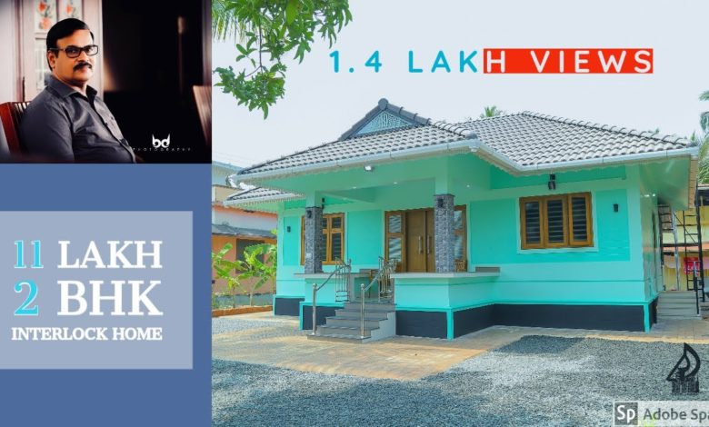 781 Sq Ft 2BHK Traditional Style Single Floor House, 11 Lacks
