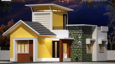 Photo of 800 Sq Ft 2BHK Contemporary Style Single Floor House and Free Plan, 13 Lacks