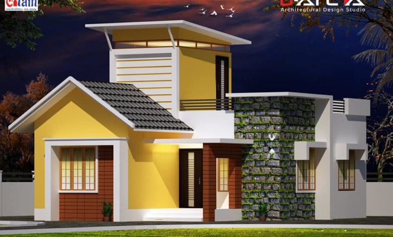 800 Sq Ft 2BHK Contemporary Style Single Floor House and Free Plan, 13 Lacks