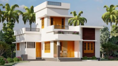 Photo of 800 Sq Ft 2BHK Modern Flat Roof Single-Storey House and Free Plan