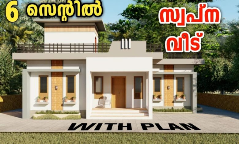 980 Sq Ft 2BHK Contemporary Style Single-Storey House and Free Plan