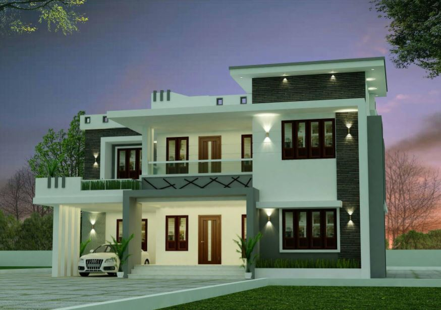 2366 Sq Ft 4BHK Modern Two Floor House and Free Plan