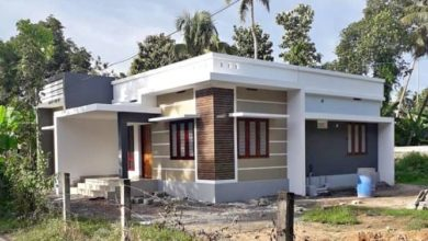 Photo of 1000 Sq Ft 3BHK Contemporary Style Single-Storey House and Free Plan