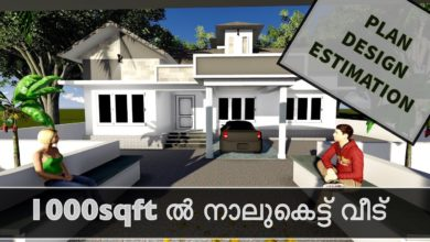 Photo of 1000 Sq Ft 3BHK Nalukettu Kerala Style Single Floor House and Free Plan