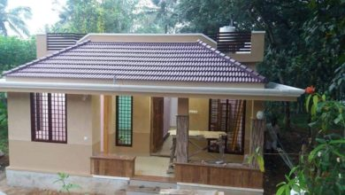 Photo of 1050 Sq Ft 3BHK Traditional Style Single Floor House and Free Plan