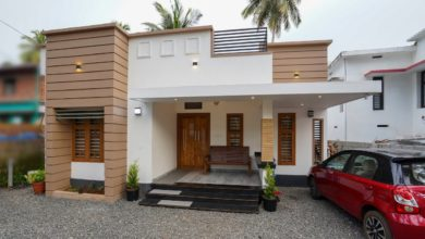Photo of 1150 Sq Ft 2BHK Modern Single Floor House at 5 Cent Plot, 20 Lacks