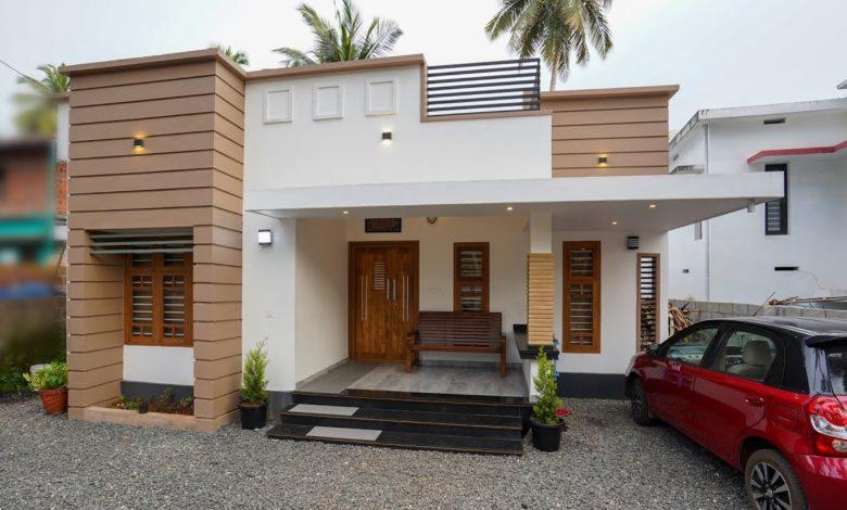 1150 Sq Ft 2BHK Modern Single Floor House at 5 Cent Plot, 20 Lacks