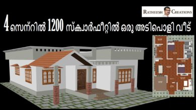Photo of 1200 Sq Ft 2BHK Beautiful Single Floor House at 4 Cent Plot, Free Plan