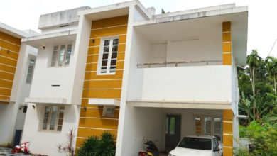 Photo of 1200 Sq Ft 3BHK Contemporary Flat Roof Modern Two-Storey House at 3.5 Cent Plot