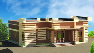 Photo of 1200 Sq Ft 3BHK Modern Single Floor House and Free Plan