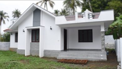 Photo of 1200 Sq Ft 3BHK Modern Single Floor House at 7.5 Cent Plot