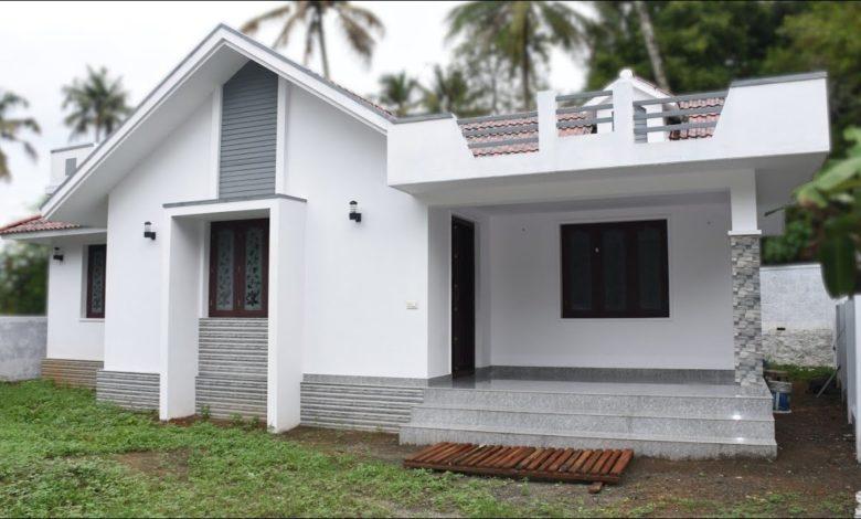 1200 Sq Ft 3BHK Modern Single Floor House at 7.5 Cent Plot