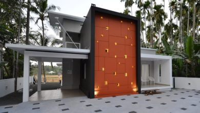 Photo of 1850 Sq Ft 3BHK Contemporary Style Two-Storey House and Free Plan