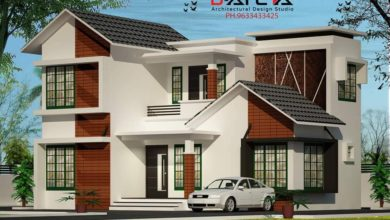 Photo of 1250 Sq Ft 3BHK Contemporary Style Two-Storey House and Free Plan