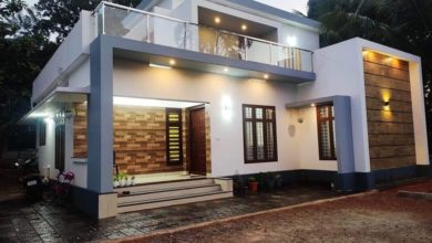 Photo of 1560 Sq Ft 3BHK Contemporary Style Two-Storey House and Free Plan