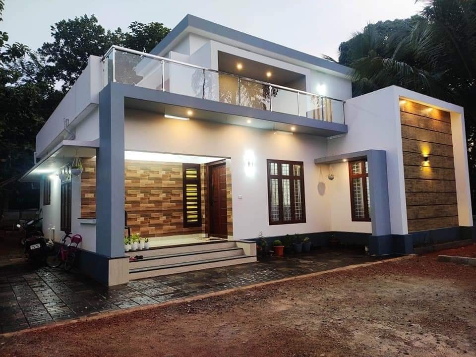 1300 Sq Ft 3BHK Contemporary Style Two-Storey House and Free Plan