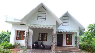 Photo of 1375 Sq Ft 3BHK Colonial Style Single Floor House at 7.5 Cent Plot