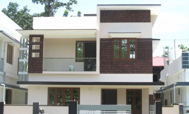 1450 Sq Ft 4BHK Double Floor Modern House at 3 Cent Plot