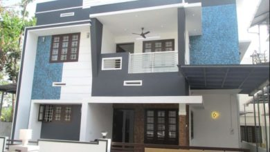 Photo of 1500 Sq Ft 3BHK Contemporary Style Two-Storey House at 3 Cent Plot