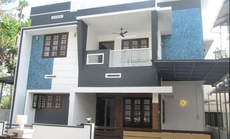 1500 Sq Ft 3BHK Contemporary Style Two-Storey House at 3 Cent Plot
