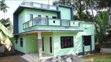 Photo of 1600 Sq Ft 3BHK Contemporary Style Two-Storey House at 5.5 Cent Plot